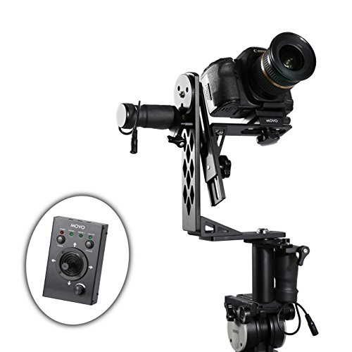 Movo Photo MGB-5 Aluminum Motorized 360 Pan/Tilt Gimbal Head for Tripods & Jibs - Supports Cameras up to 11 LBS