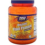 Now Sports Organic Plant Protein Powder, Unflavored, 2-Pound