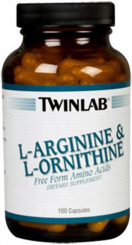 Twinlab L-Arginine et L-Ornithine, 100 Capsules (pack de 2)