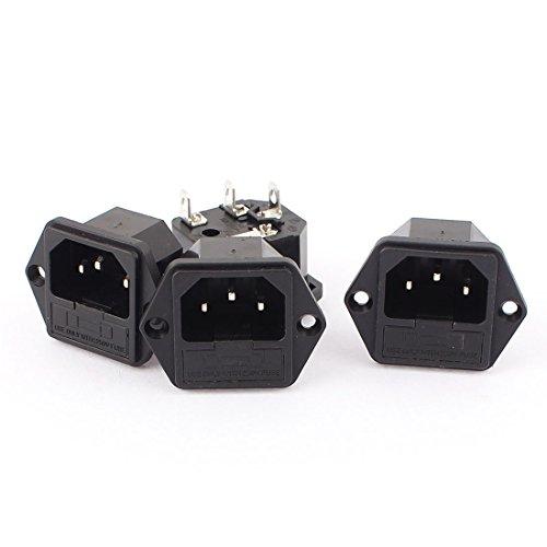 1.25' Socket (uxcell 4pcs IEC320 C14 Male Power Cord Inlet Socket Fuse Holder 250V 16A)