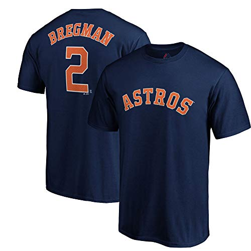 Outerstuff MLB Youth Performance Team Color Player Name and Number Jersey T-Shirt (Medium 10/12, Alex Bregman Houston Astros) ()