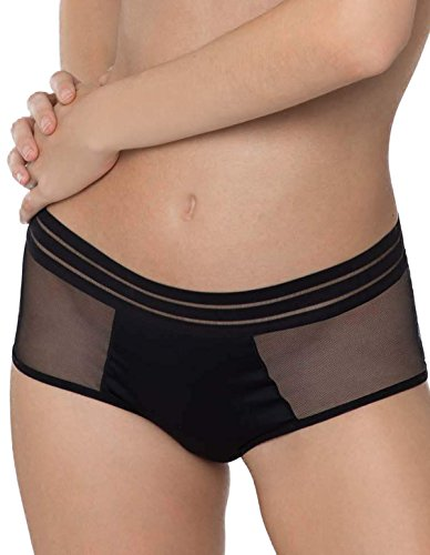 Maison Lejaby 171269-04 Women's Nufit Black Knicker Shorties Boyshort LGE