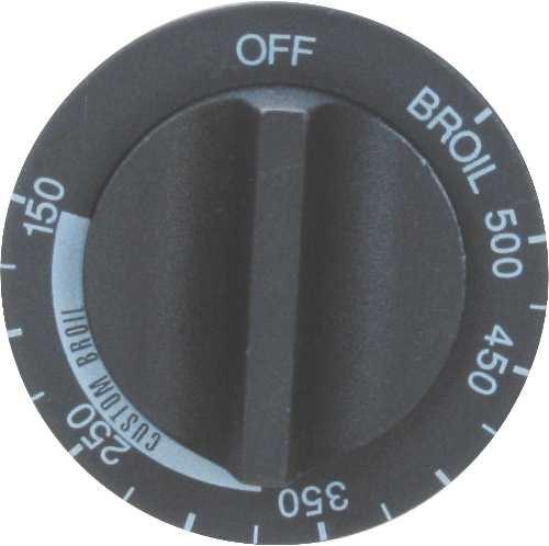 ERP GIDS-301971 Thermostat Knob, Whirlpool Range, Black