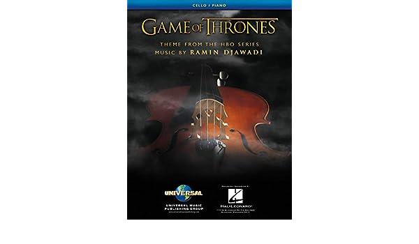 Juego de Tronos Tema Arranged para Cello & Piano - Hoja Música Única: Amazon.es: Instrumentos musicales