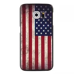 QJM 20150511 American Flag Pattern PC Hard Case for Samsung Galaxy S6 edge