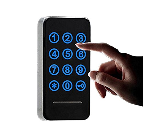 Electronic Cabinet Lock Kit Set, Digital Touch Keypad Lock, Password Entry and RFID Card / Wristband Entry, Keyless Door Lock Knob - Keyless Mortise Door Lock