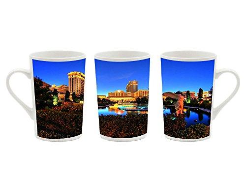1Pcsx Ceramic Mug Coffee Cup - Caesars Palace Las Vegas Hotel And Casino - Picture Printing White Ceramic Coffee Milk Cup Porcelain Mugs 13.5 oz