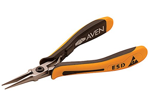Aven Stealth Pliers Short Needle Nose 5-inch with Smooth Jaws ()