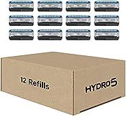 Schick Refil de barbear Hydro Skin Comfort Dry Skin com 5 lâminas, 12 unidades