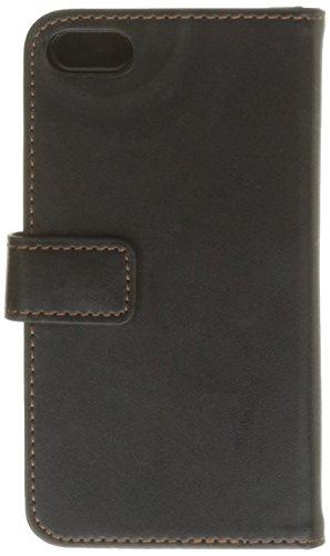 Yousave Accessories Schutzhülle aus PU-Leder mit Brieftaschenfunktion für iPhone 5C, Schwarz