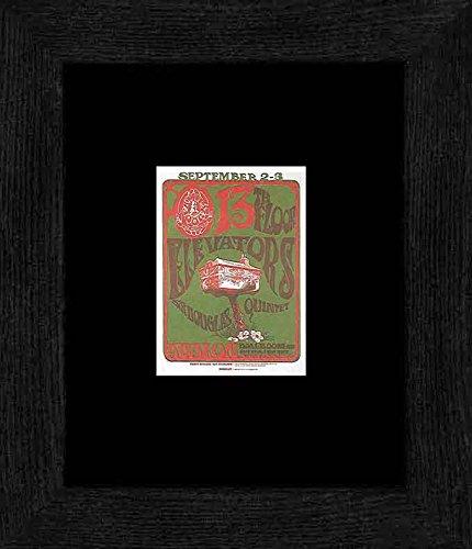 13th Floor Elevators Sir Douglas Quintet - Avalon Ballroom San Francisco July 66 Framed Mini Poster - 20x18cm