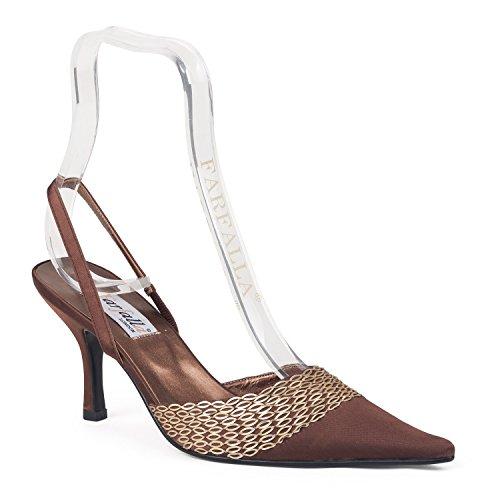 marrone donna Marrone alla caviglia con cinturino FARFALLA Scarpe gwRqZZ