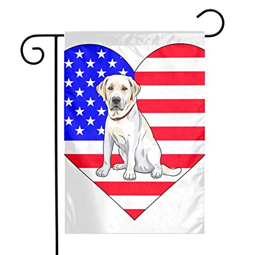 American Flag Heart Dog Labrador Lab Yellow Themed Welcome Mailbox Small Jumbo For Outdoor Decorations Ornament Picks Garden House Home Yard Traditional Decorative Front 12