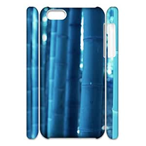 Cell phone 3D Bumper Plastic Case Of Bamboo For iPhone 5C