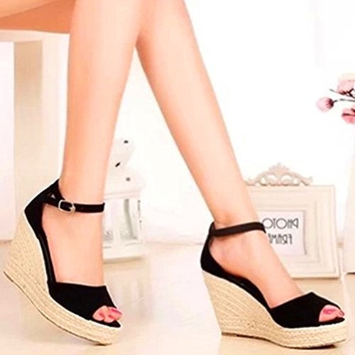 con De Sandalias Zapatos Toe Peep Cabeza Mujer Pescado a Lvguang Grueso Cu Tac UtEPHvExwq