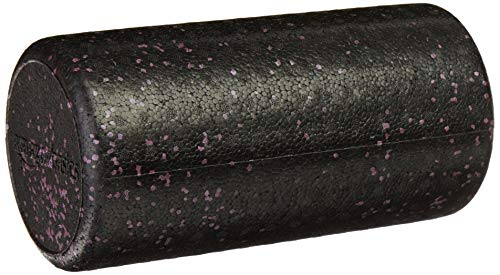 AmazonBasics High-Density Round Foam Roller | 12-inches, Purple Speckled