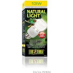 Exo Terra Repti-Glo 2.0 Compact Fluorescent Full Spectrum Terrarium Lamp, 13-Watt (Natural Light)