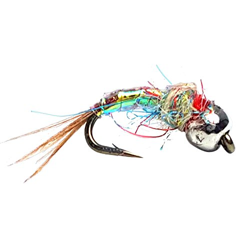 Fly Fishing Trout Wet Nymph Assortment Fly Crate Tungsten Rainbow Warrior Midge