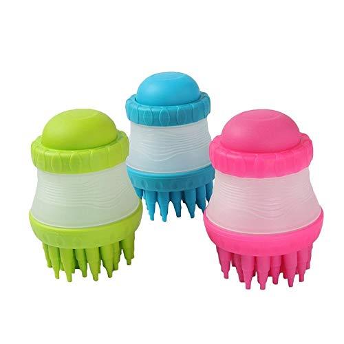 FidgetFidget Pet Scrub Buster Cleaner Soft Silicone Dog Washing Brush Built-in Shampoo Clean - Scrub Buster