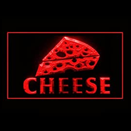 Cheese-Swiss-Vegan-Mozzarella-Starter-Dairy-Product-Cream-LED-Light-Sign-110267-Color-Red