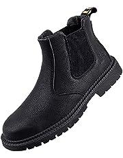 Werkschoenen heren lichtgewicht waterdichte veiligheidsschoenen waterdicht hoge hulp en comfortabele snijbescherming laarzen
