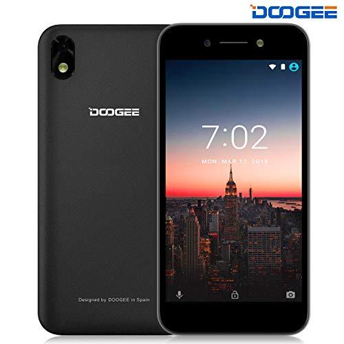Unlocked Cell Phones Android 8.1, DOOGEE X11 Unlocked Dual SIM Smartphones - 5.0'' 2.5D Screen Display - 1GB RAM + 8GB ROM - 5MP Rear Camera - 3G GSM Unlocked Smartphones - Black