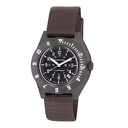 Marathon WW194013SG Swiss Made Military Issue Milspec Navigator Quartz Watch with Date and Tritium Illuminatio