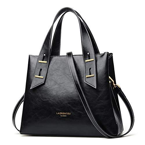 LAORENTOU Top Handle Purses and Handbags for Women Cowhide Leather Purses Small Satchel Handbags Mini Tote Shoulder Bags