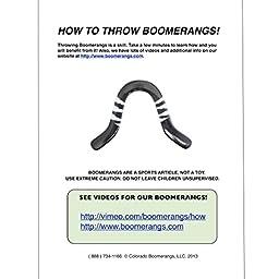 Aboriginal Blue Angel Wooden Boomerangs - For Kids 8-18!
