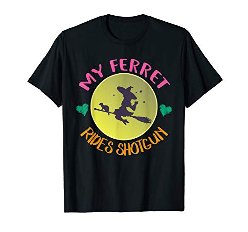 (My Ferret Rides Shotgun T-Shirt Cute Halloween Costume)