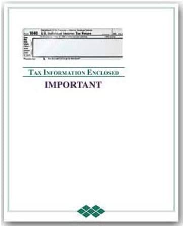 100 Count Size 9x12 EGP Client Tax Record and Receipt Envelope