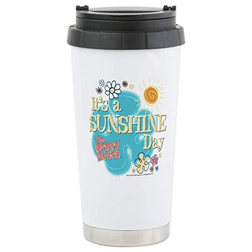 (CafePress The Brady Bunch: Sunshi Stainless Steel Travel Mug Stainless Steel Travel Mug, Insulated 16 oz. Coffee Tumbler)