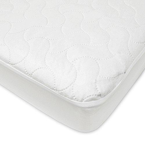 American Baby Company Funda de colchón protectora impermeable para niños pequeños y para niños pequeños Cubierta de almohadilla, Blanco