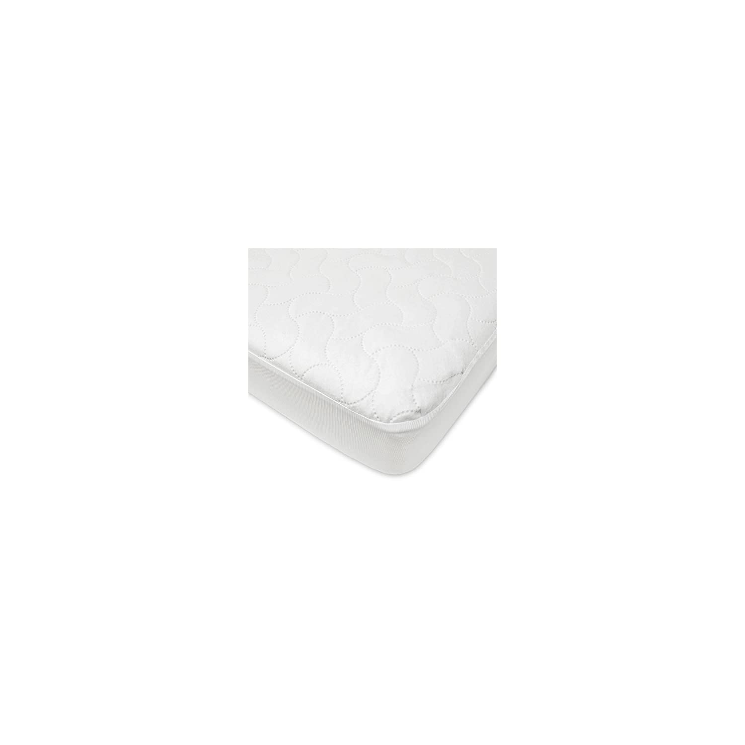American Baby Company Waterproof Fitted Crib and Toddler Protective Mattress Pad Cover, White (1 Count), for Boys and Girls