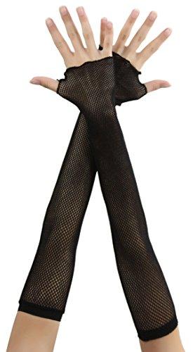 (ToBeInStyle Women's Fishnet Fingerless Gloves -)