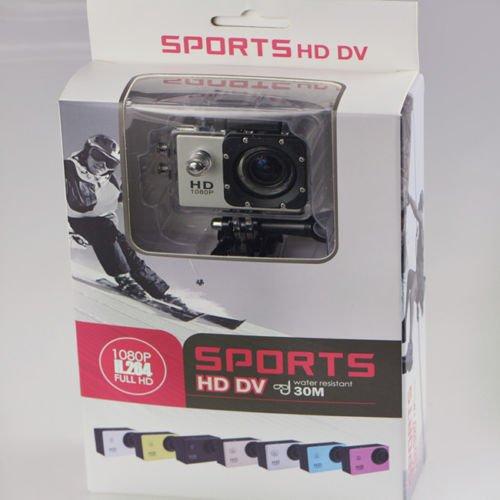 70 opinioni per Sport Action Pro Cam Camera Full HD DV 1080p Waterproof Videocamera Subacquea Go