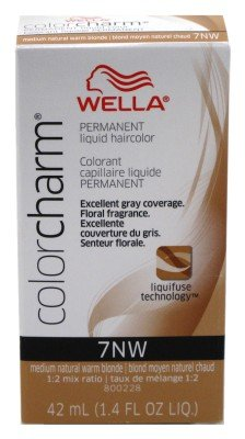 Color Liquid Charm (Wella Color Charm Liquid #7Nw Medium Natural Warm Blond (41ml) (3 Pack))