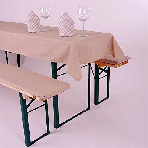 Biertisch Tischdecke eckig, Uni, Baumwolle Canvas, robust, strapazierfähig, langlebig, einfarbig, Tischwäsche, Tischtuch, strapazierfähig Tischwäsche Hans-Textil-Shop