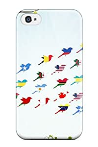 Awesome DiPoXhT27040BuKhA Patricia Kelly Defender Tpu Hard Case Cover For Iphone 4/4s- Flag