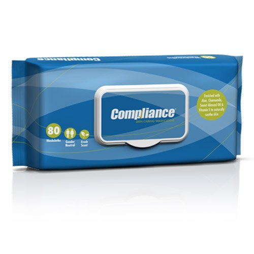 Compliance Skin Caring Washcloths - 9'' x 13'' (80/pk | 12 pk/cs) by International Direct
