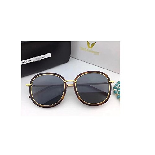 New Gentle man or Women Monster eyeware V brand MAD CRUSH B4 sunglasses for gental Monster sunglasses -Brown frame Black lenses