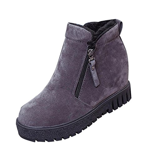 Flats Warm Shoes DEESEE Gray winter TM Casual Suede Boots Women Shoes Ankle S1Swx