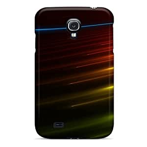 Galaxy S4 Kpe193LVtq Dark Colorful Abstract Wide Screen Tpu Silicone Gel Case Cover. Fits Galaxy S4
