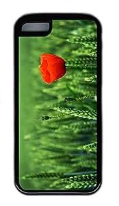 iPhone 5c Case Unique Cool iPhone 5c pc Black Cases Lone Poppy Design Your Own iPhone 5c Case