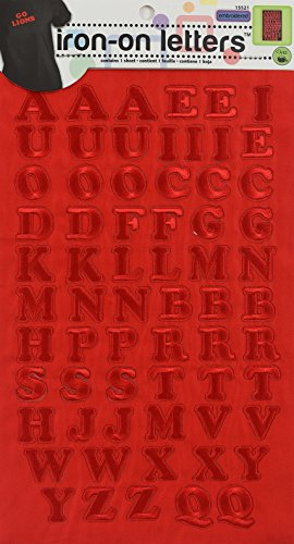 Embroidered Iron On Letters (Dritz Iron-On Embroidered Letters, Cooper - red)