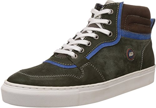 ID Men's Olive Leather Sneakers