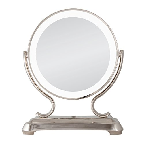 Zadro Lighted Vanity Mirror With 1x Or 5x Magnification : Zadro Polished Nickel Surround Light Dual Sided Glamour Vanity Mirror, 5X / 1X Magnification in ...