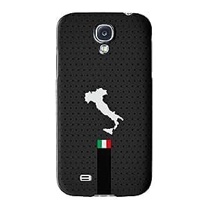 Elegante y mapa de grayitalian oscuro de bandera de Italia Diseño de la bandera de la bandera de Italia–bandiera d 'Italia Full Wrap Case Impreso en 3d gran calidad, Snap-on Cover para Samsung Galaxy S4, diseño de UltraFlags