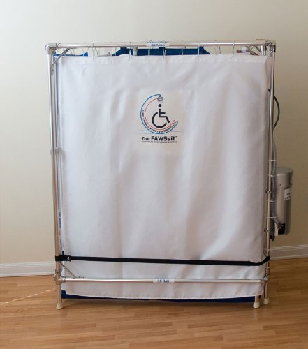 Handicapped Wheelchair Shower Stall (Made in the USA, 10-year warranty on frame) by MedAme