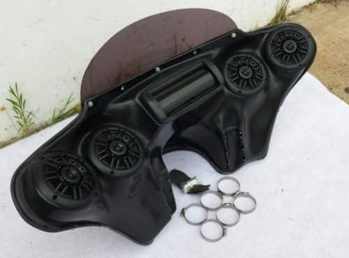 USA F15-1 SB+F26 Painted Vivid Black Bagger Batwing Fairing Windshield for HON DA VTX C R S 1800 1300 6X9 Speaker Holes